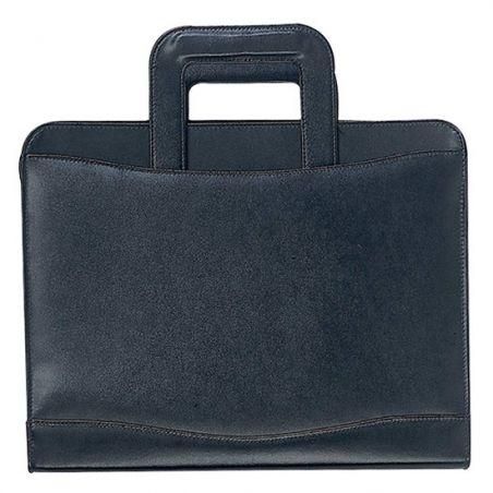 Hakiki deri toplantı çantası.