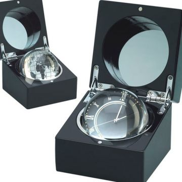 Lacquer Boxed Table Clock