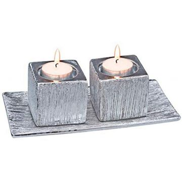 Tealight Candlestick Set