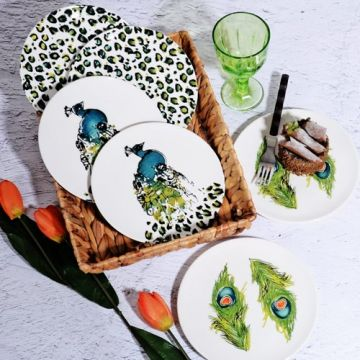 Peacock Pattern Cake Plate