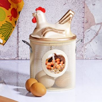 Beige Egg Basket