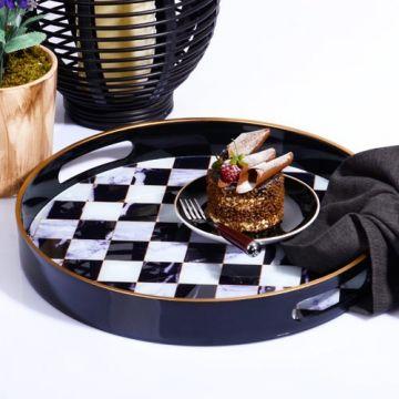 Black&White Checkered Round...