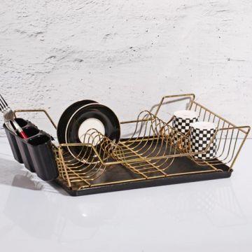 Black Single Layer Dish Rack