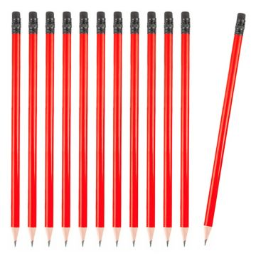 12 Pcs. Pencil With Eraser