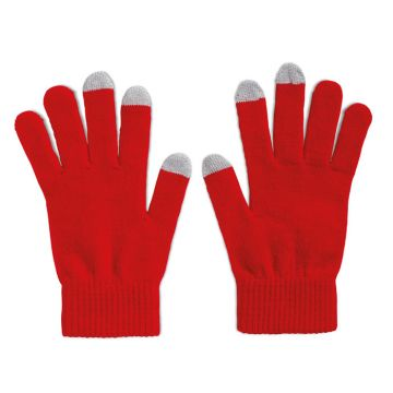 Mobile Phone Gloves - Red
