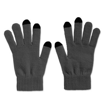 Mobile Phone Gloves - Grey