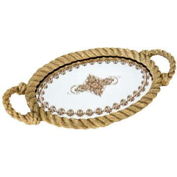 Gold Rope Decorative Glass...