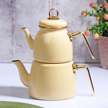 Beige Color Teapot
