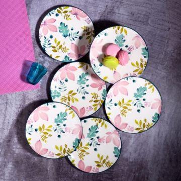 Pink Pattern Cake Plate