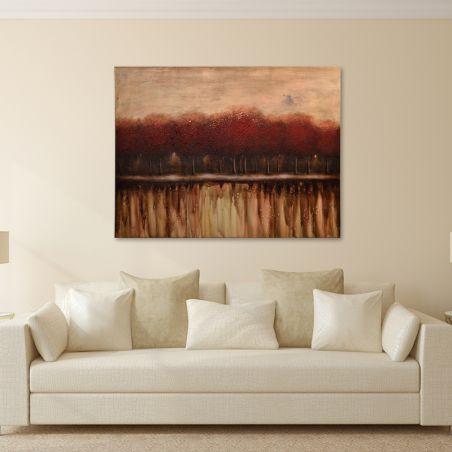 Kırmızı Orman Yağlı Boya Tablo