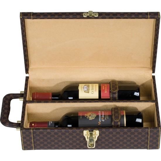 iki şişelik çok özel şarap çantası.